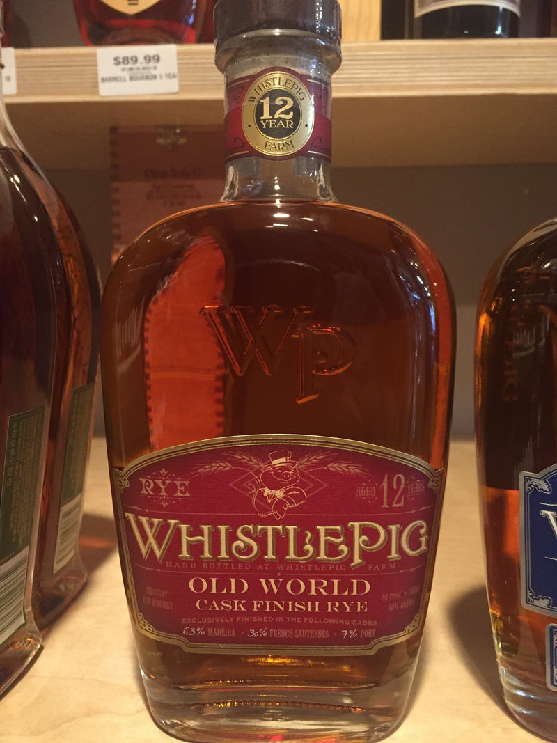 WHISTLE PIG OLD 12 YEAR