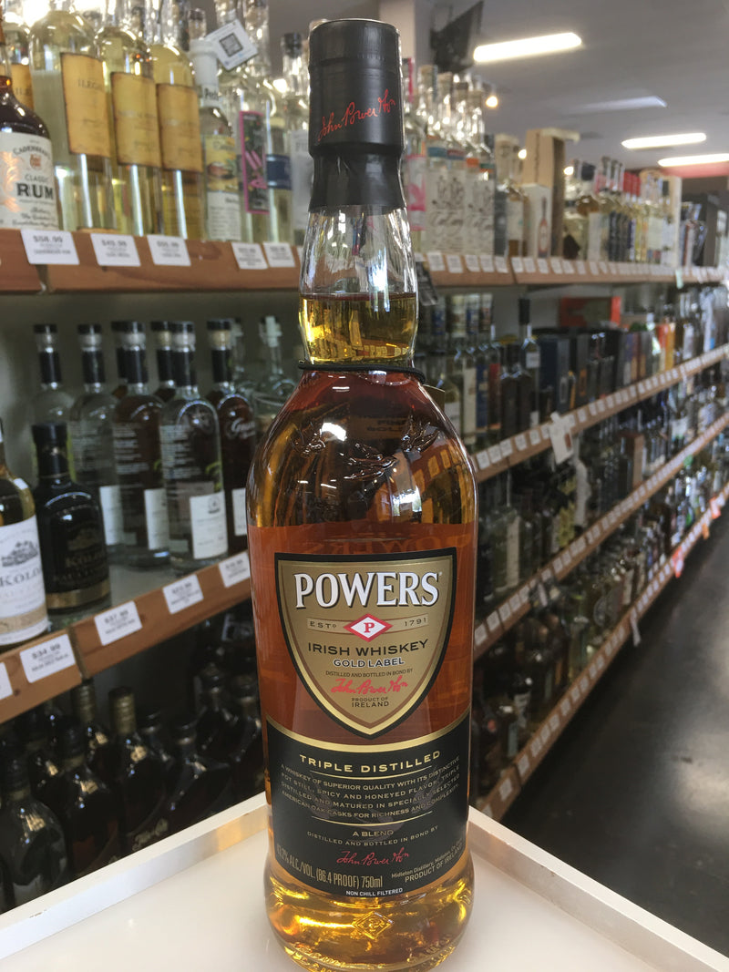 POWERS TRIPLE DISTILLED IRISH 750 ml.