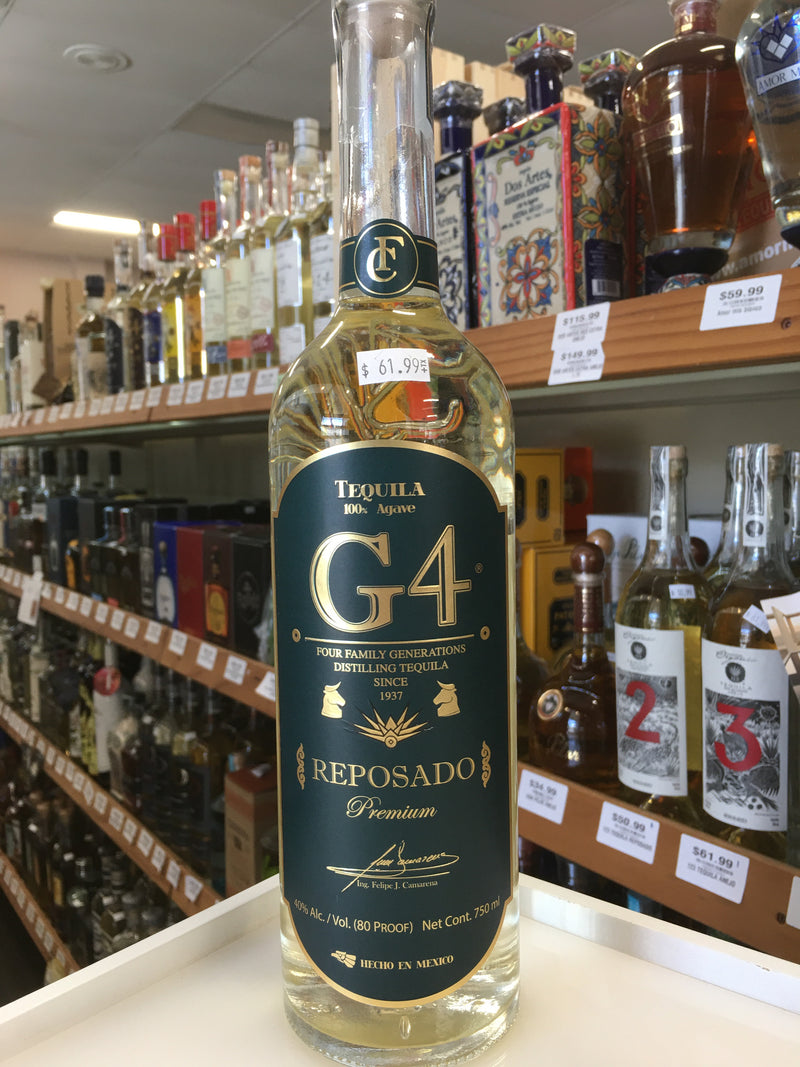 G4 TEQUILA REPOSADO 750 ML.