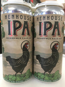 HENHOUSE IPA 4 PACK CANS.