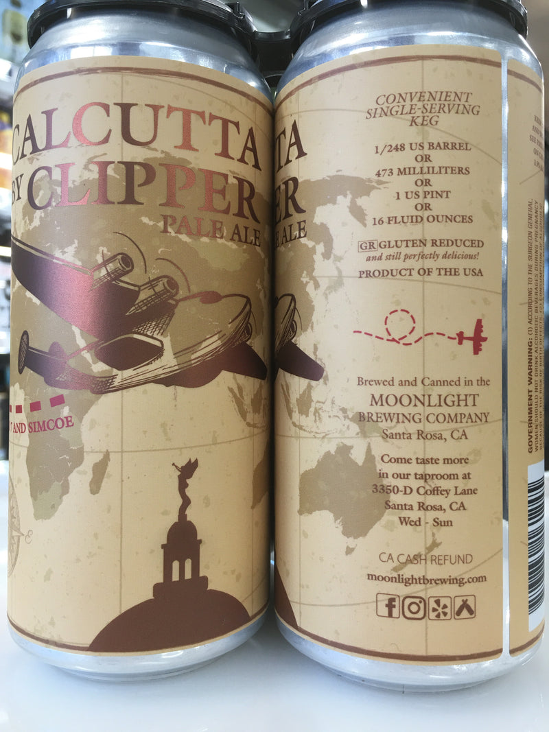 MOONLIGHT BREWING CALCUTTA BY CLIPPERS 4PK CANS
