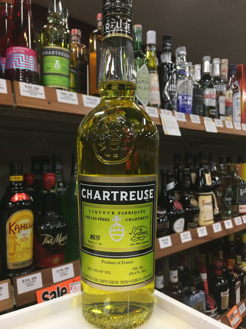 CHARTREUSE LIQUEUR YELLOW 750 ML