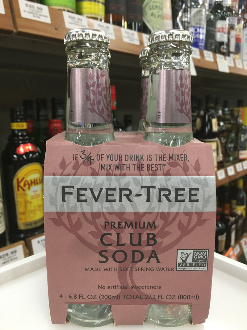 FEVER TREE PREMIUM CLUB SODA 4 PK