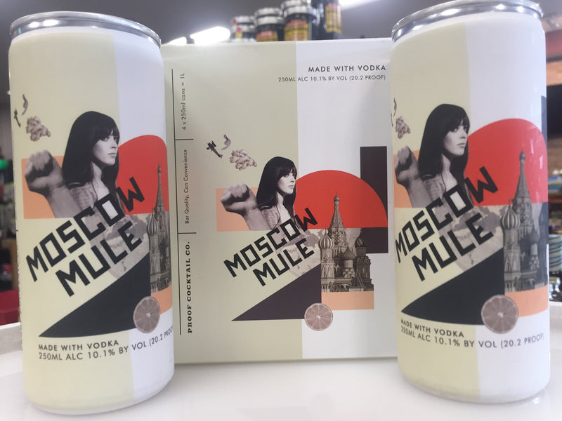 MOSCOW MULE 4 PACK CANS BY PROOF COCKTAIL