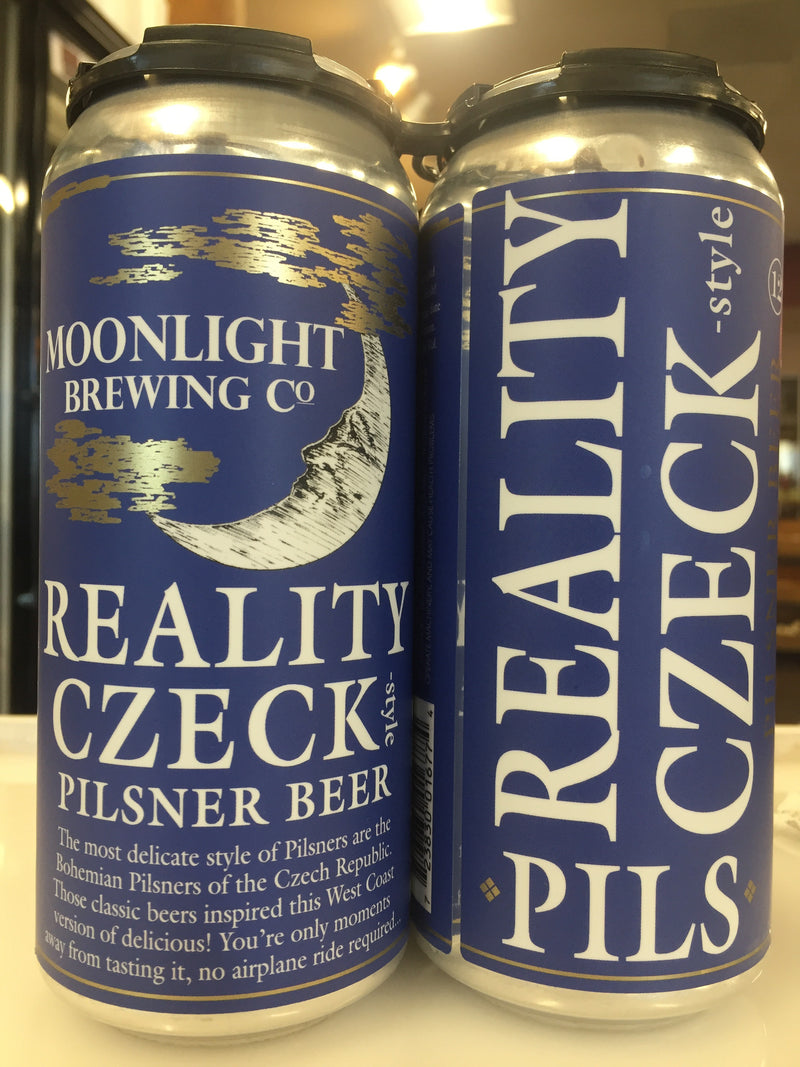MOONLIGHT BREWING REALITY CZECK 4 PK CANS