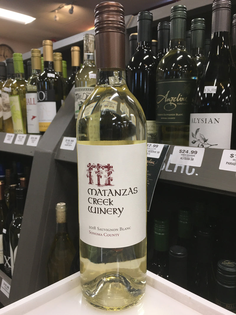 MATANZAS CREEK WINERY SONOMA COUNTY SAUVIGNON BLANC