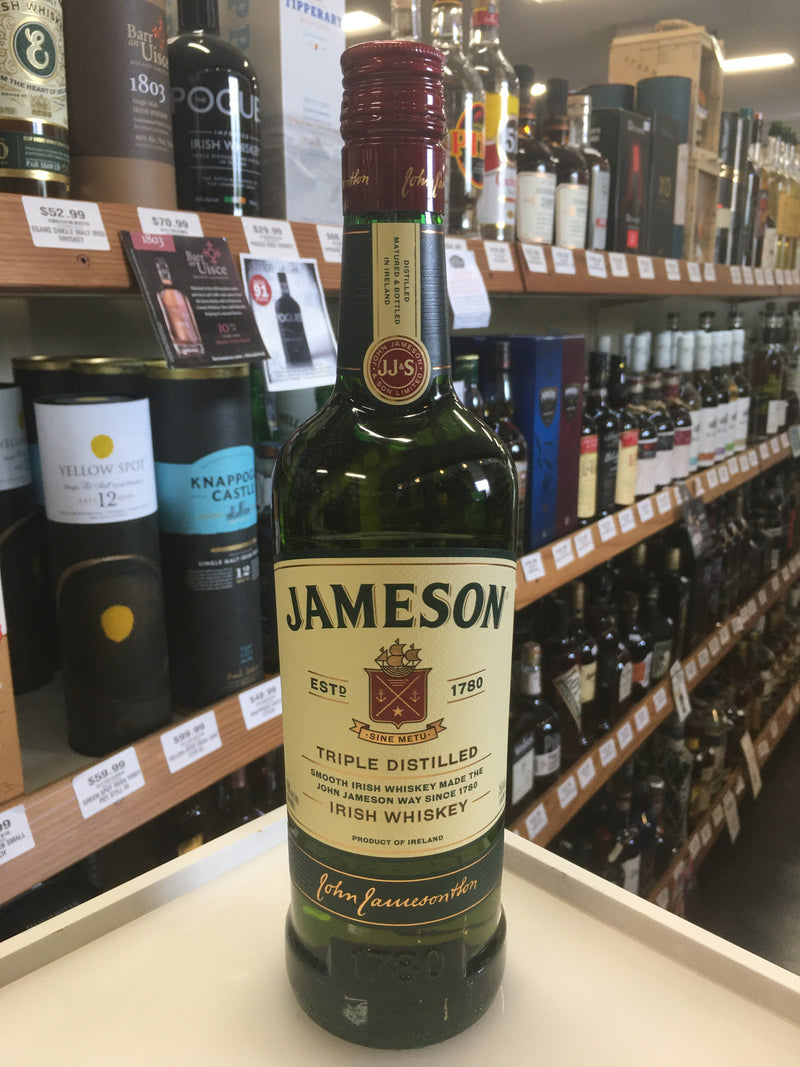 JAMESON TRIPLE DISTILLED IRISH 750. ML