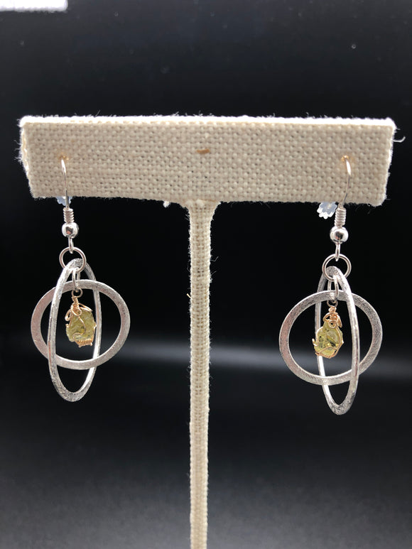 Admire Meteorite - Olivinoid Earrings