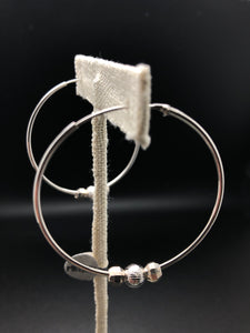 Meteorite Hoop Earrings - .925 Sterling