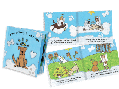 Paw Prints in Heaven Book - Sympathy