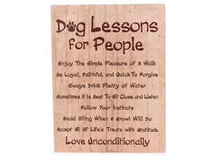 Dog Lessons for People - Small Pallet Box Sign
