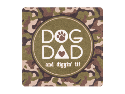 Dog Dad - Single Square Coaster
