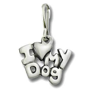 I Love My Dog Zipper Pull