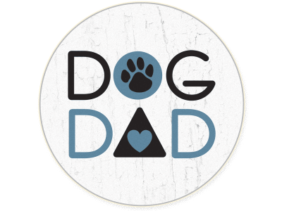 Dog Dad - Car Coaster