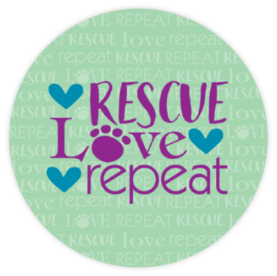 Rescue Love Repeat - Car Coaster