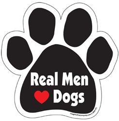 Real Men (Heart) Dogs Car Magnet
