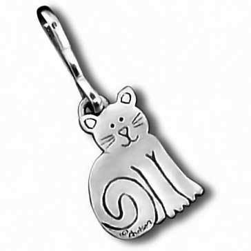 Sitting Cat Zipper Pull