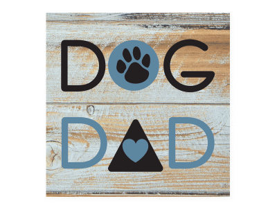 Dog Dad - Wood Pallet Magnet