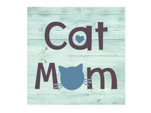 Cat Mom - Wood Pallet Magnet