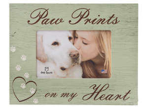 Paw Prints on My Heart - Picture Frame