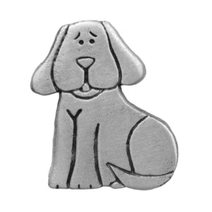 Sitting Dog Pewter Pin