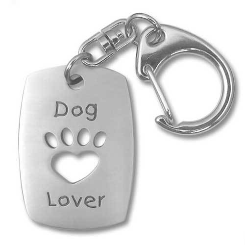 Dog Lover Pewter Key Chain