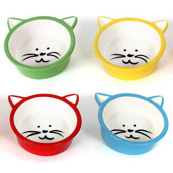 Ceramic Cat Face Feeding Bowl