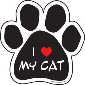 I (Heart) My Cat Paw  Car Magnet