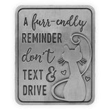 Don't Text And Drive - Cat Visor Clip