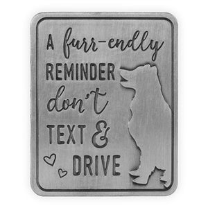 Don't Text And Drive - Dog Visor Clip