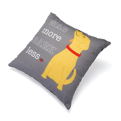 Wag More Bark Less Accent Pillow (18