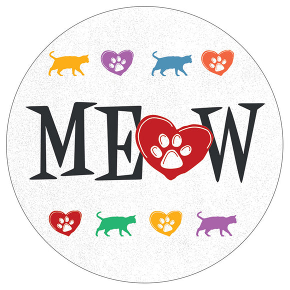 Meow Cat Lover - Car Coaster