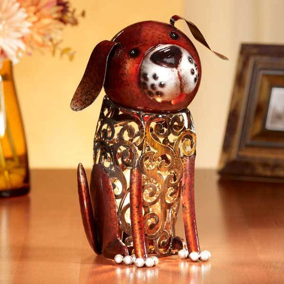 Dog Figurine Electric Luminary (Light)