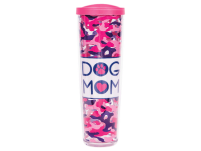 Dog Mom w/Pink Lid - Drinkware