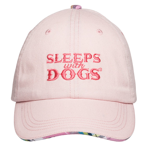 Sleeps With Dogs Baseball Cap - Pink