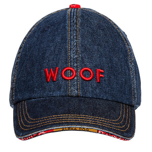 Woof Baseball Cap - Denim