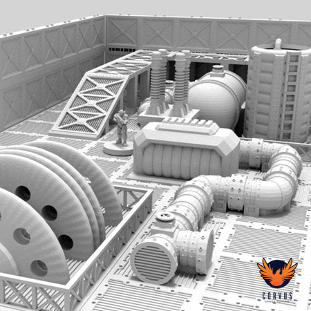 28mm - 34mm Industrial Pipework Modular Terrain for Warhammer 40K / Necromunda in development