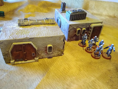 Corvus Games Terrain 3D printable greebles for scratch built buildings in Star Wars Legion