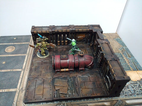 Corvus Games Terrain 3D printable Industrial Pipeworks scenery for Kill Team, Warhammer 40K, Space Hulk, and Star Wars Legion