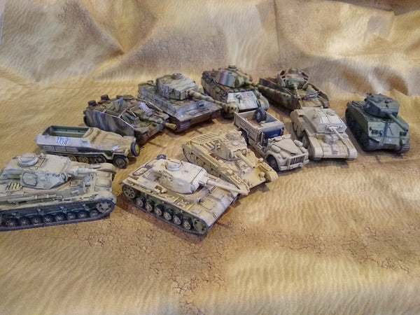 Corvus Games Terrain 3D printed 1/56 scale WW2 tanks and vehicles for 28mm Bolt Action