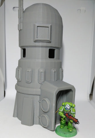 Test printed cooling tower 3D printed terrain piece for Warhammer 40K or Star Wars Legion