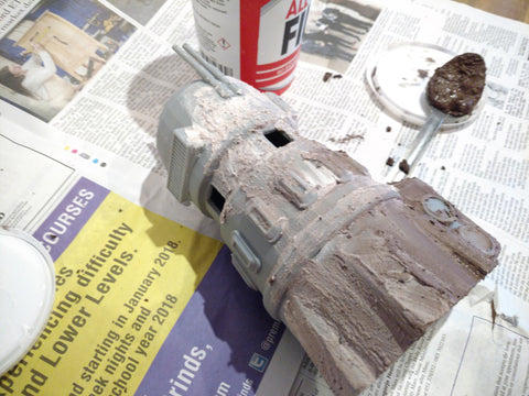 Adding texture to your 3D printed wargaming terrain for Star Wars Legion