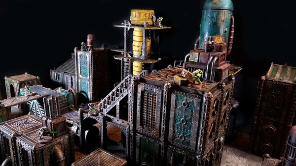 Sector Corvus Prime modular sci-fi 3D printable terrain for Kill Team, 40K, Necromunda