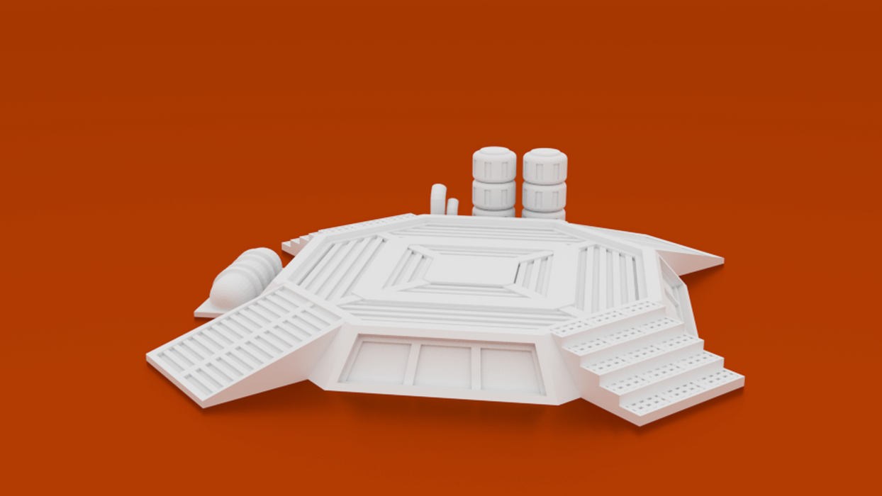 Corvus Games Terrain 3D printable 15mm scifi outpost compound buildings