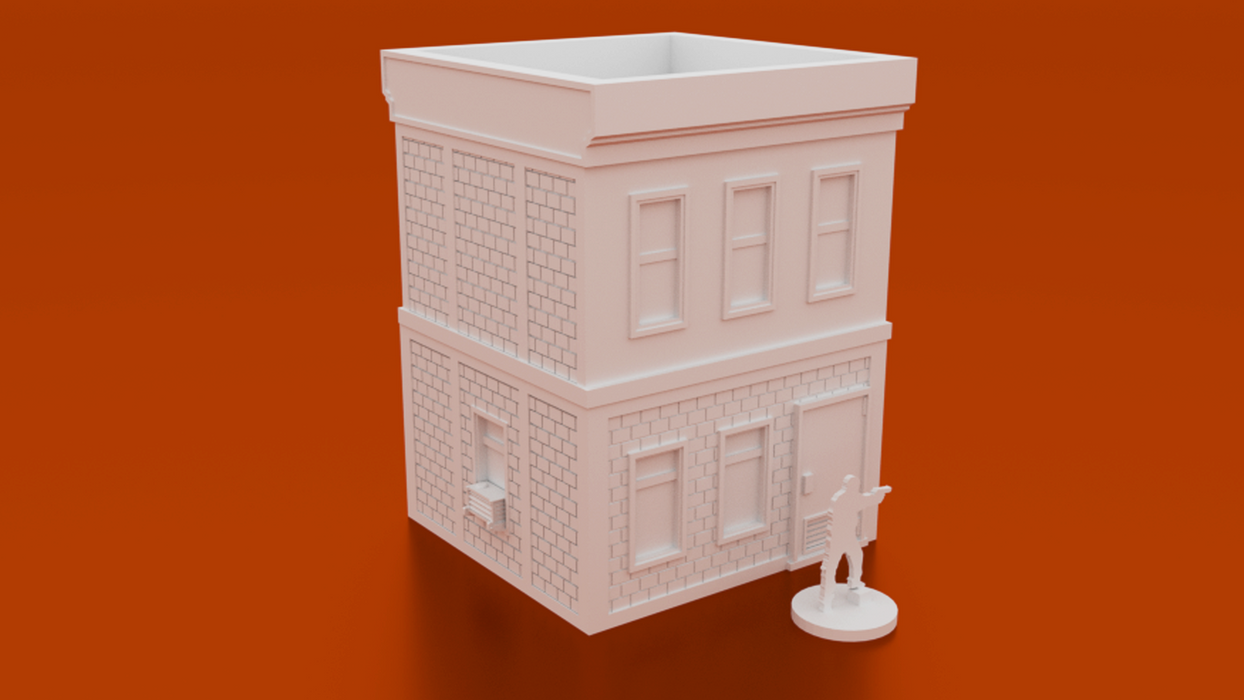 Corvus Games Terrain 3D printable 28mm Post Office Building for Marvel Crisis Protocol, The Walking Dead and Fallout