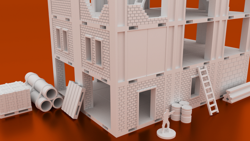 Corvus Games Terrain 3D printable MidRim City bundle of buildings for Star Wars Legion, Infinity and Star Breach