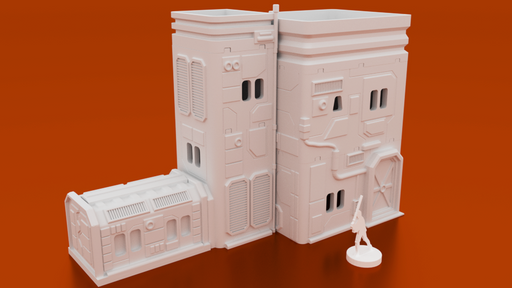 Corvus Games Terrain 3D printable MidRim City Administration Building for Star Wars Legion, Infinity and Star Breach