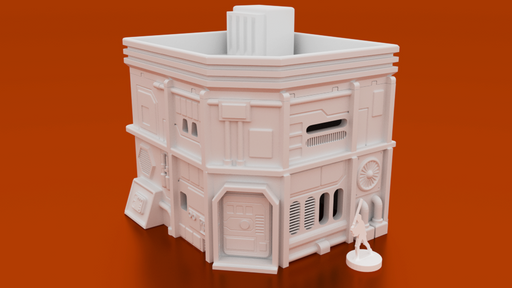 Corvus Games Terrain 3D printable MidRim City Medium House type A for Star Wars Legion, Infinity and Star Breach