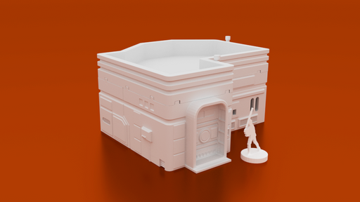 Corvus Games Terrain 3D printable MidRim City Medium House type B for Star Wars Legion, Infinity and Star Breach