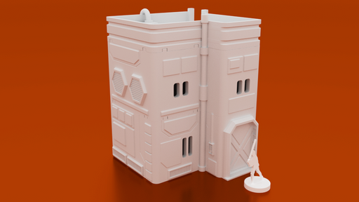 Corvus Games Terrain 3D printable MidRim City Small House type B for Star Wars Legion, Infinity and Star Breach